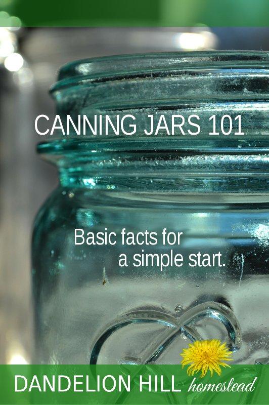 Pinterest image for Canning Jars 101