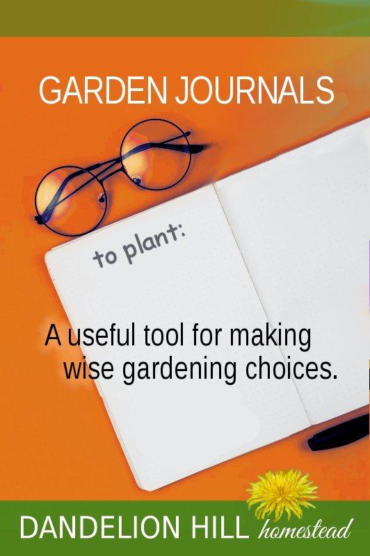 Pinterest image for Garden Journals article