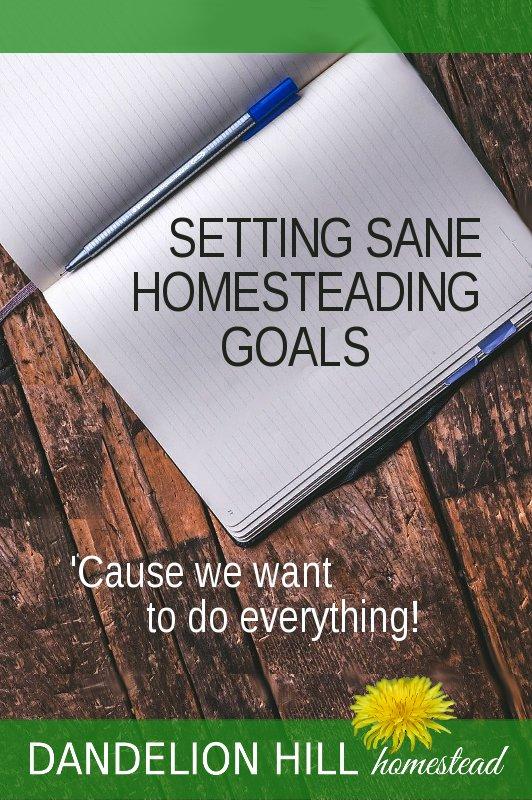 Pinterest image for Homesteading Goals