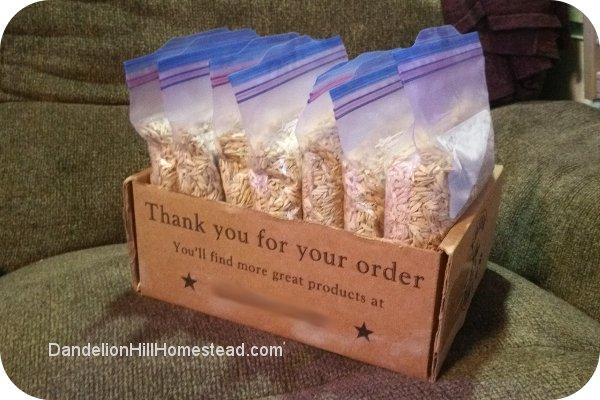 bags of barley seed