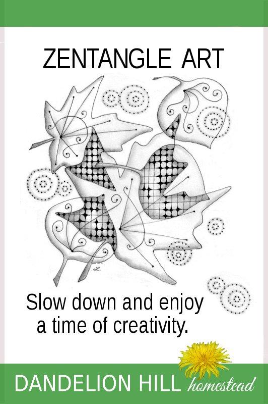 Pinterest image for Zentangle Art article