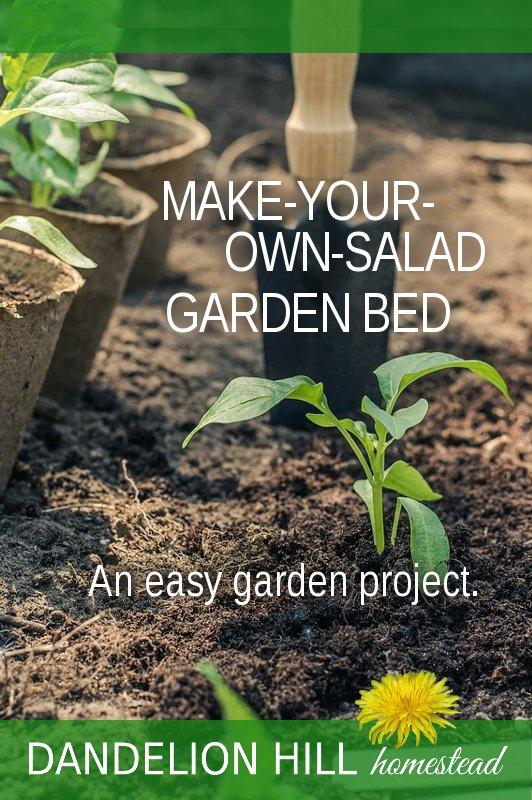 Pinterest image for Salad Garden