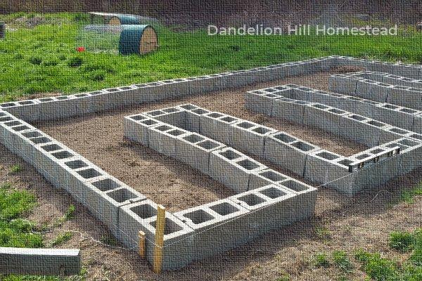 block raised garden