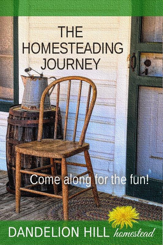 Pinterest image for The Homesteading Journal article
